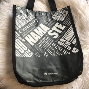 black lulu lemon bag